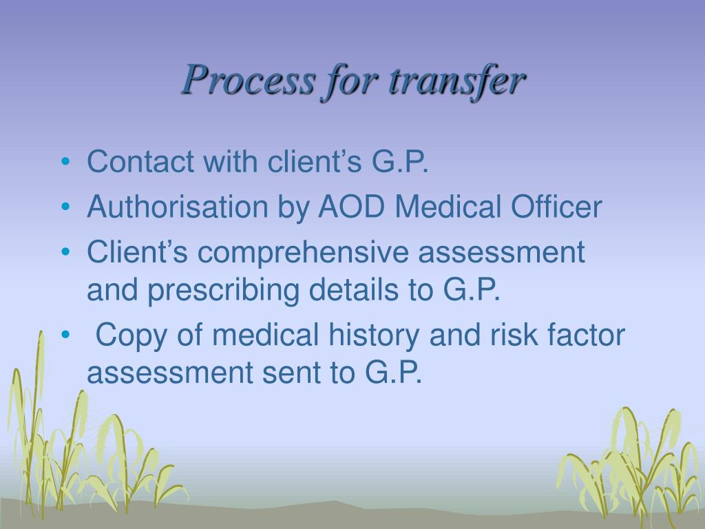 Process for transfer
