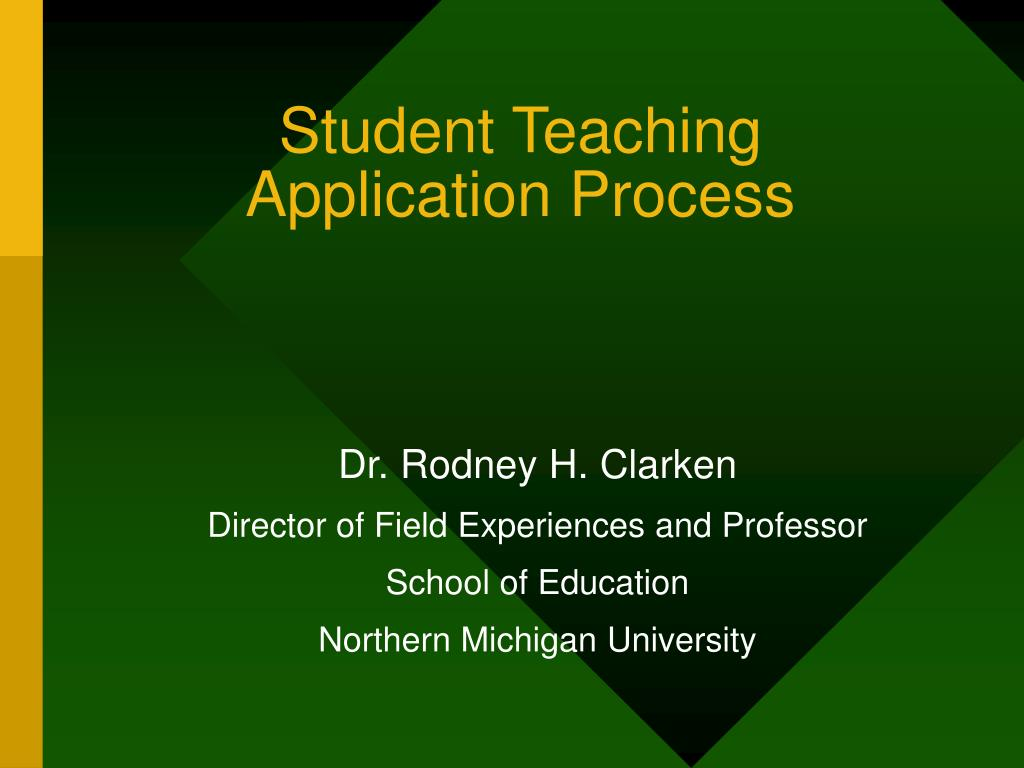 student teaching application process l.