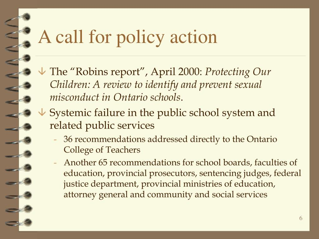 A call for policy action