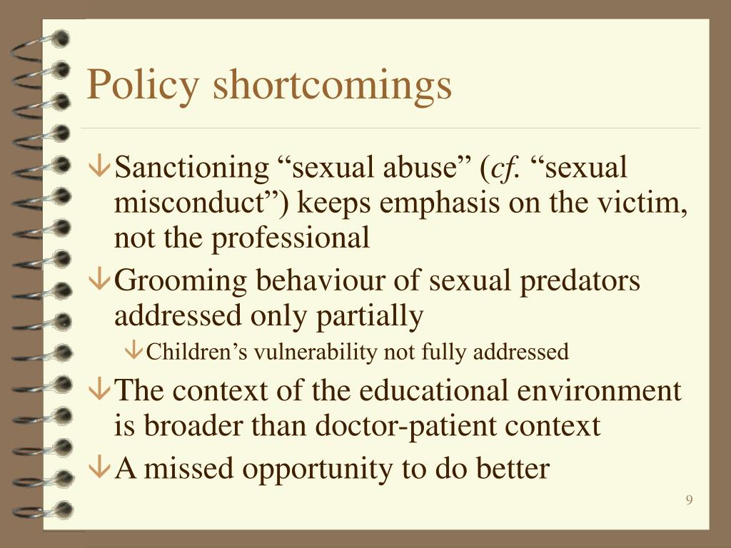 Policy shortcomings