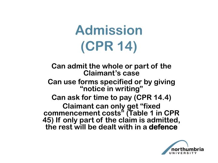 Admission cpr 14
