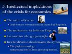 3 intellectual implications of the crisis for economics