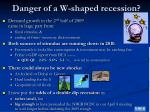 danger of a w shaped recession