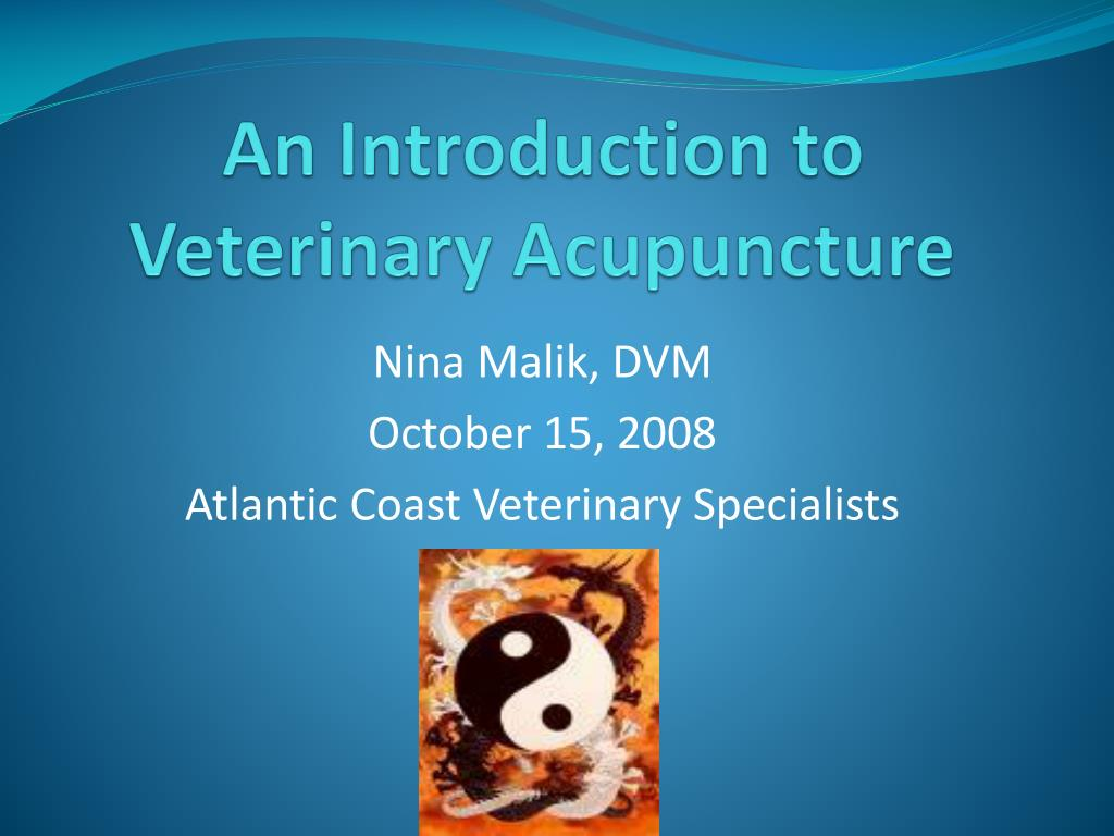 an introduction to veterinary acupuncture l.