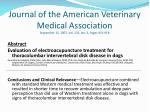 journal of the american veterinary medical association september 15 2007 vol 231 no 6 pages 913 918