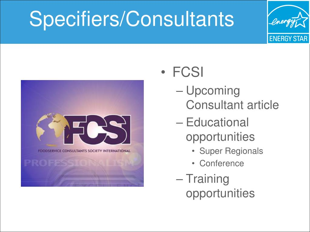 Specifiers/Consultants