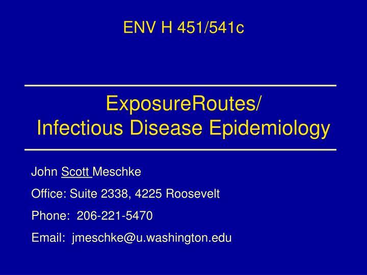 Exposureroutes infectious disease epidemiology