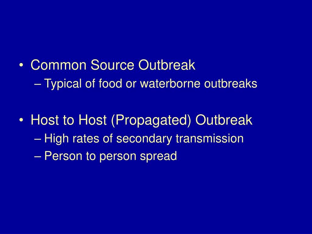 Common Source Outbreak