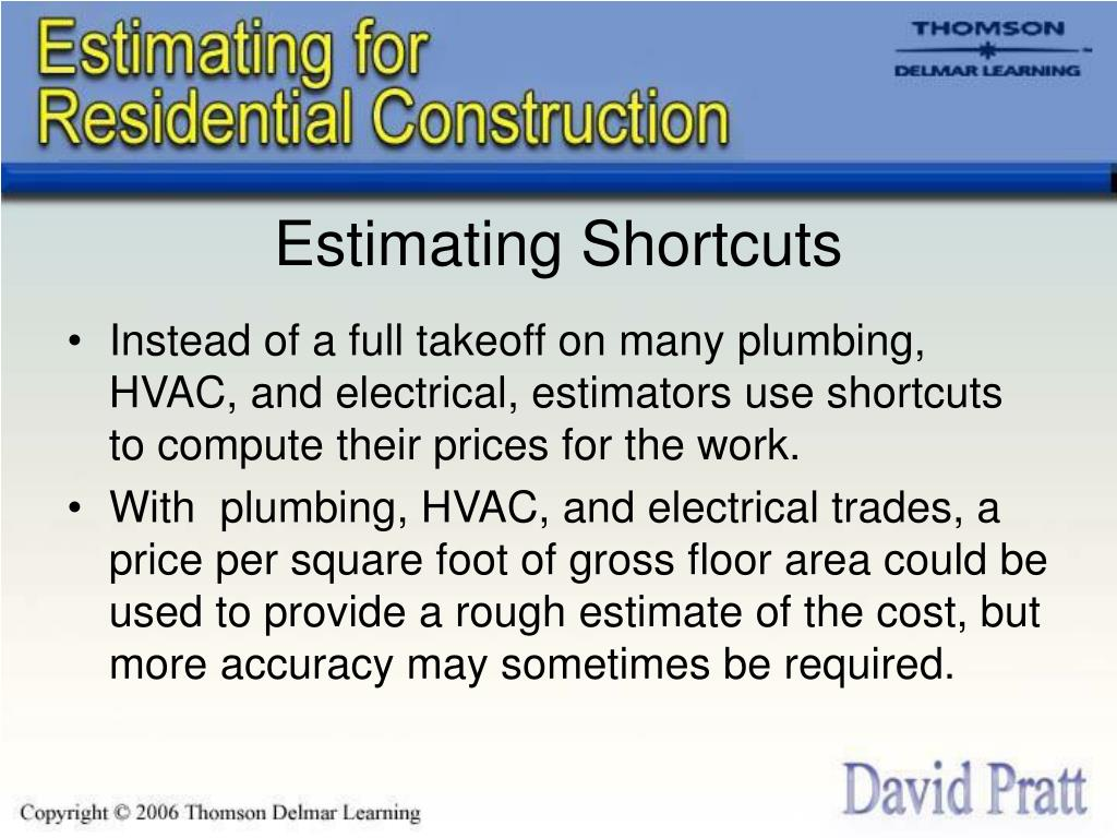 Estimating Shortcuts