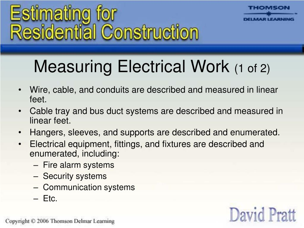 Measuring Electrical Work