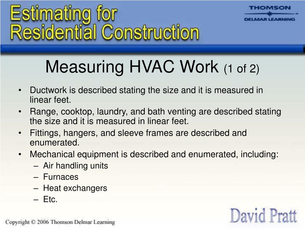 Measuring HVAC Work