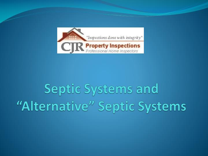 septic systems and alternative septic systems n.