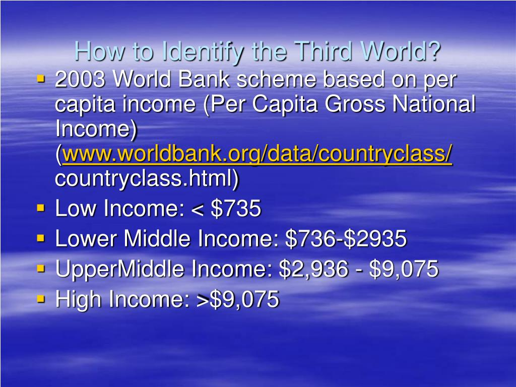 How to Identify the Third World?