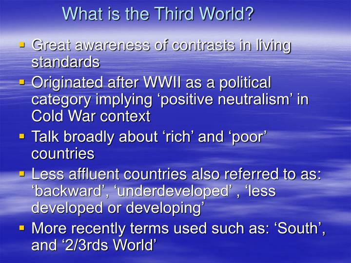 What is the third world
