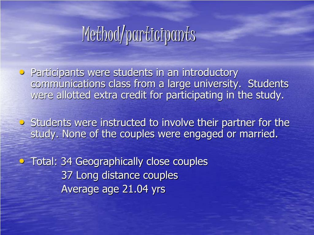 Method/participants