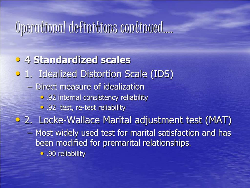 Operational definitions continued….