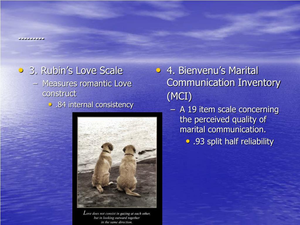 3. Rubin's Love Scale