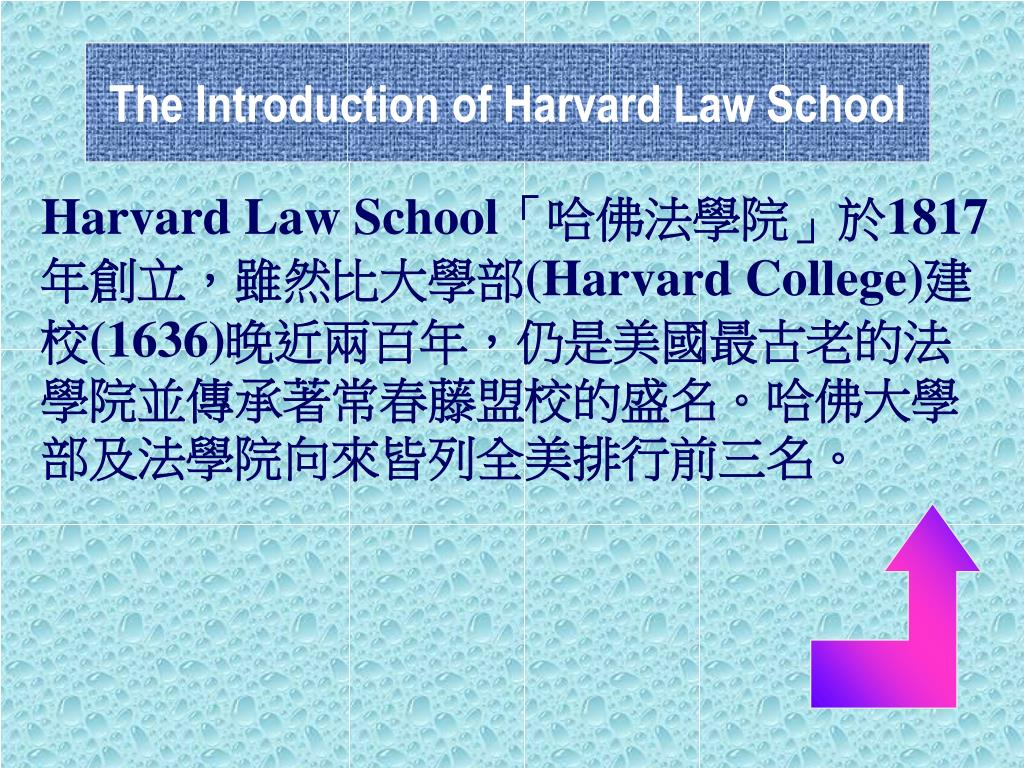 The Introduction of Harvard Law School
