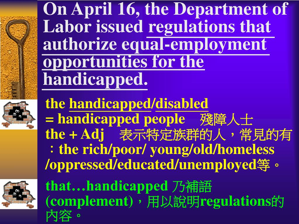 On April 16, the Department of Labor issued regulations that authorize equal-employment