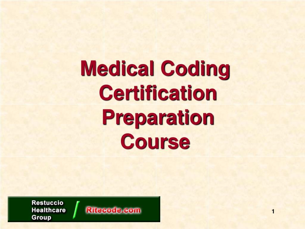 medical coding certification preparation course l.
