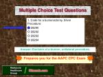 multiple choice test questions