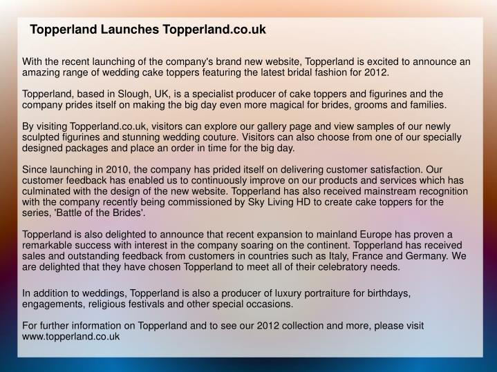 Topperland Launches Topperland.co.uk
