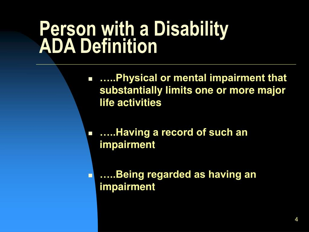 Person with a Disability
