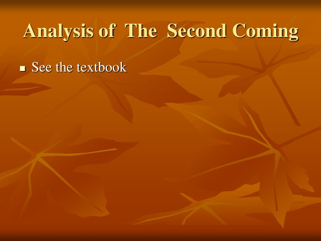Analysis of  The  Second Coming