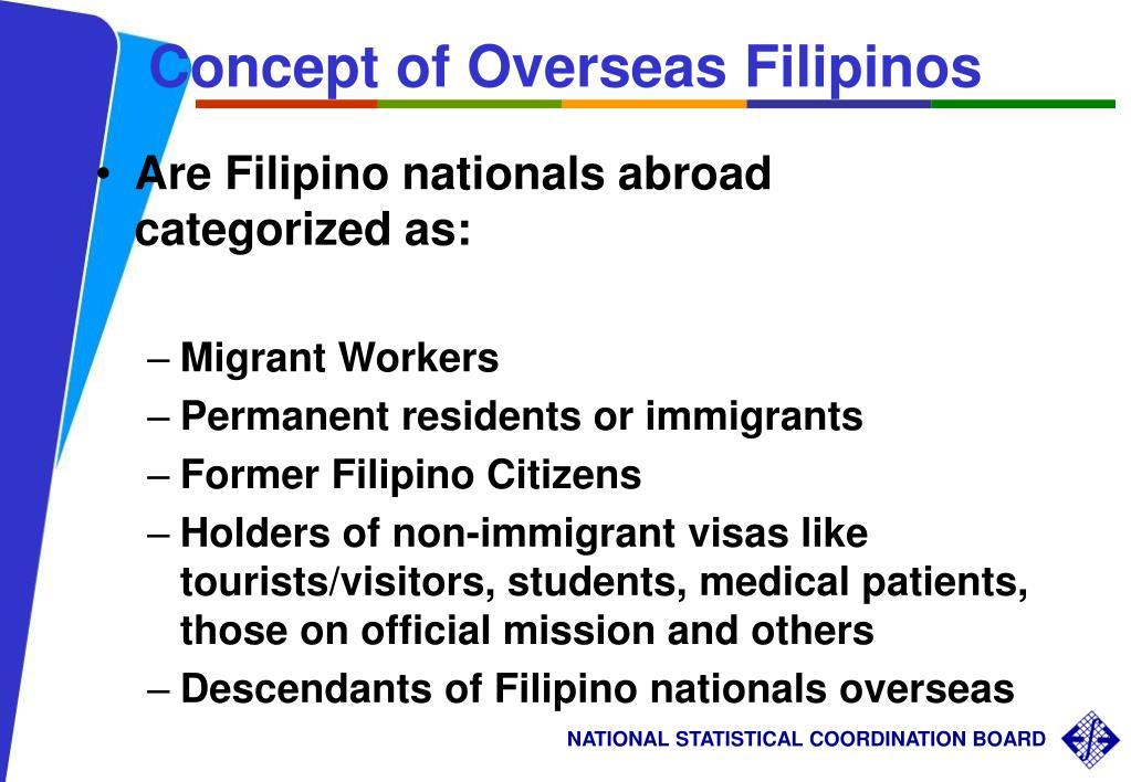 Concept of Overseas Filipinos