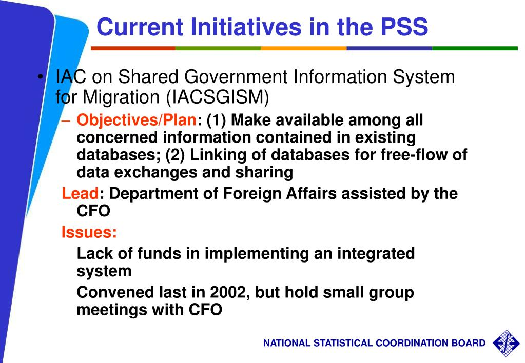 Current Initiatives in the PSS