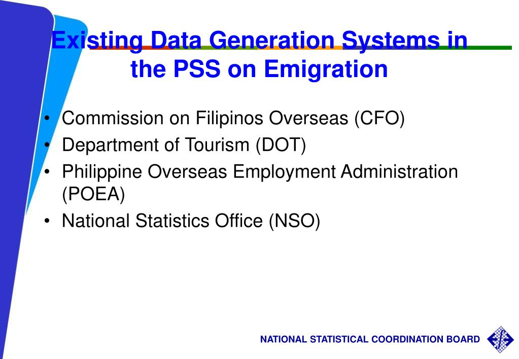 Existing Data Generation Systems in the PSS on Emigration