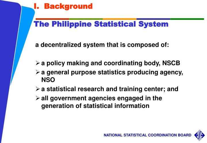 I background the philippine statistical system
