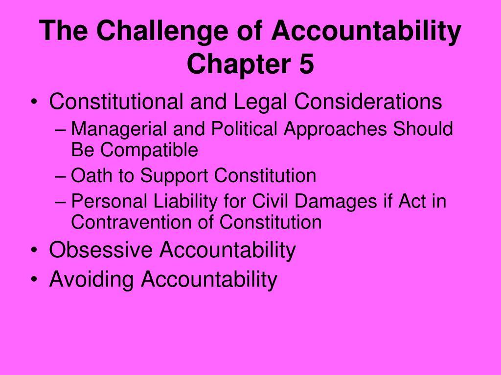 The Challenge of Accountability