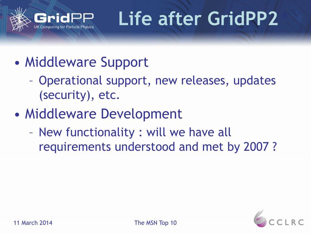 Life after GridPP2