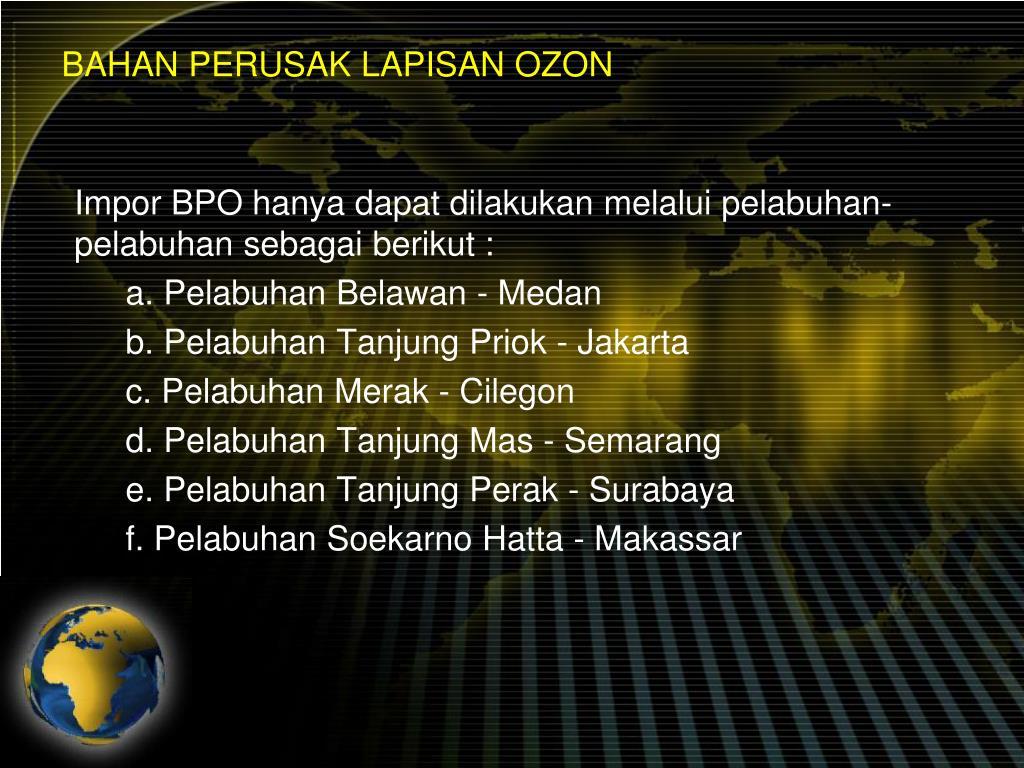 BAHAN PERUSAK LAPISAN OZON