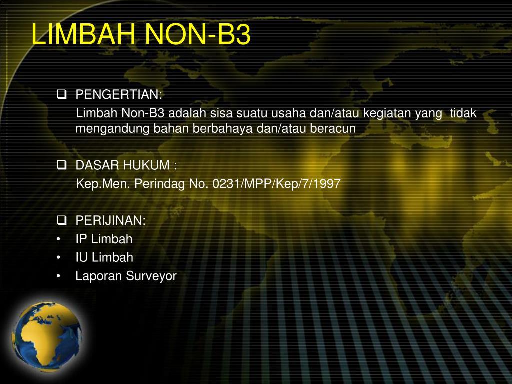 LIMBAH NON-B3