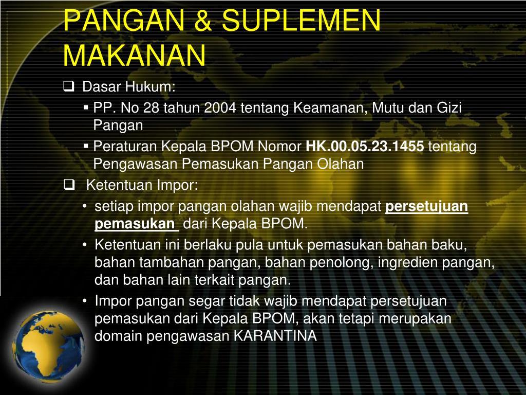 PANGAN & SUPLEMEN MAKANAN