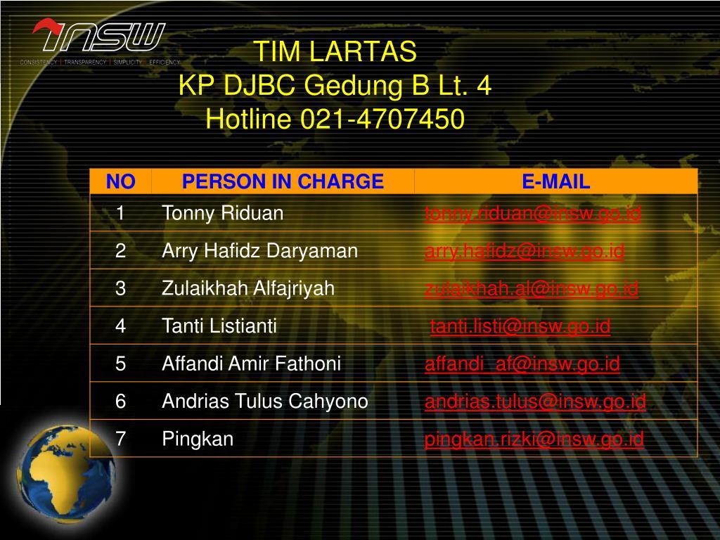 TIM LARTAS