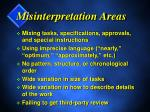 misinterpretation areas