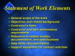 statement of work elements