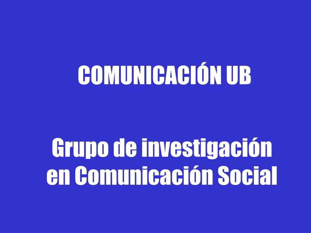 COMUNICACIÓN UB