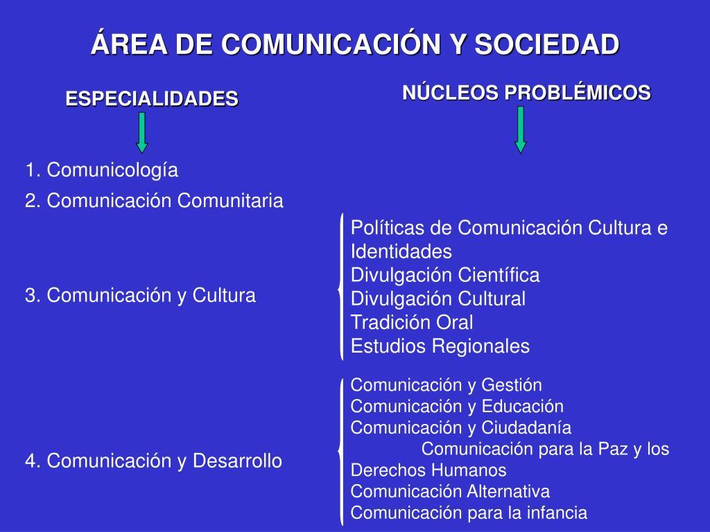 ÁREA DE COMUNICACIÓN Y SOCIEDAD