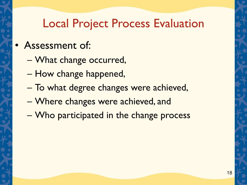 Local Project Process Evaluation