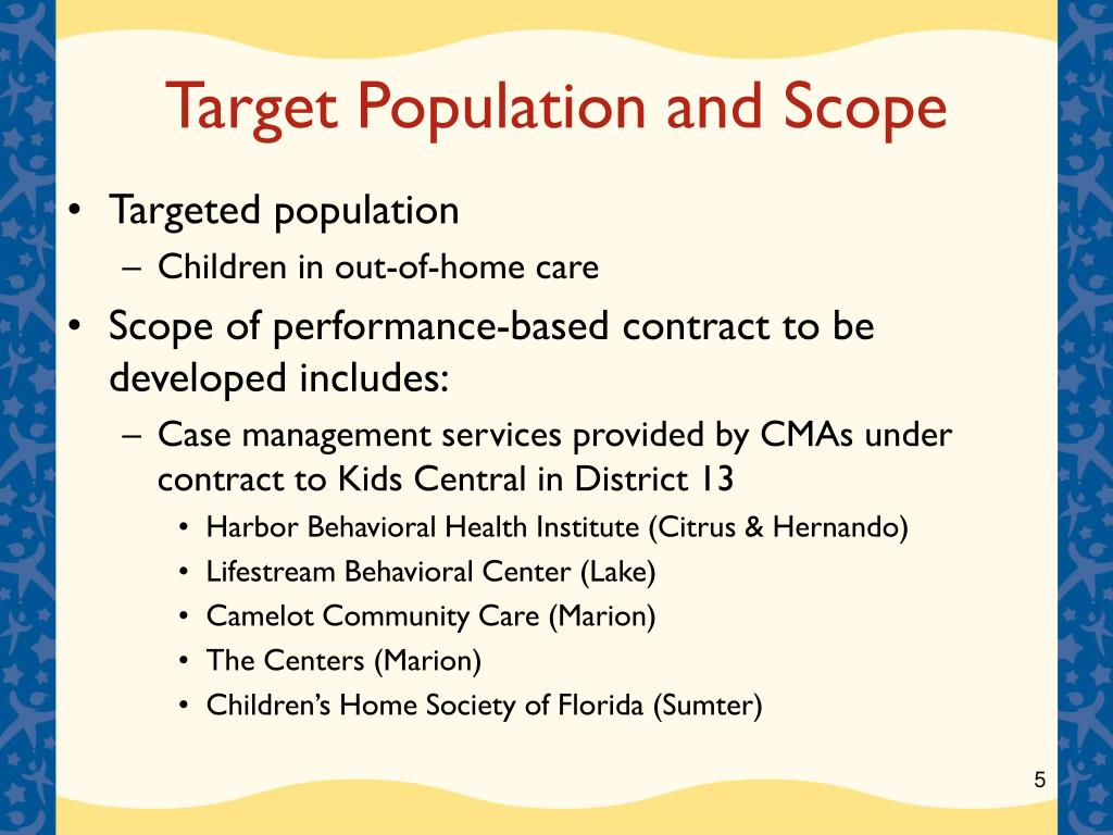 Target Population and Scope