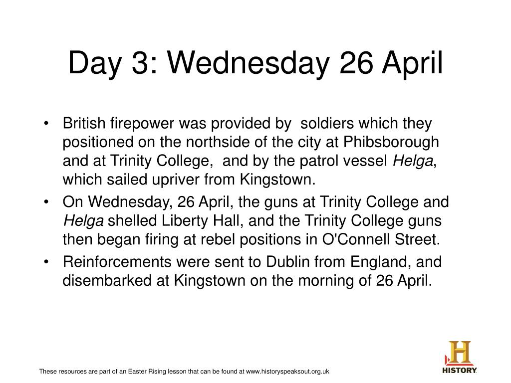 Day 3: Wednesday 26 April