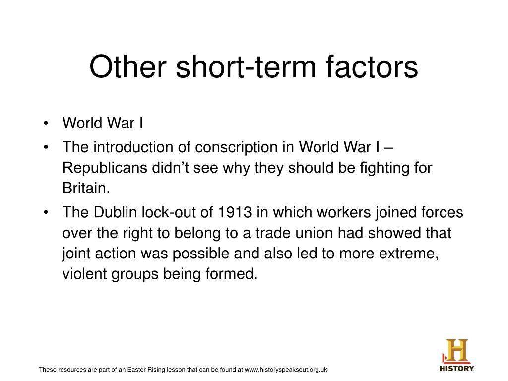 Other short-term factors