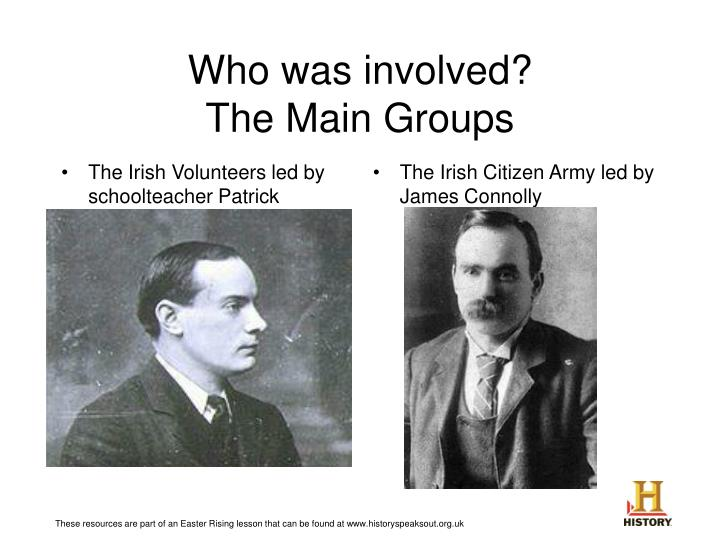 Who was involved the main groups