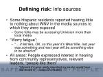 defining risk info sources52