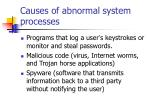 causes of abnormal system processes