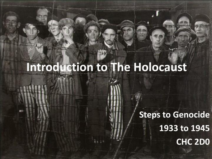introduction to the holocaust n.